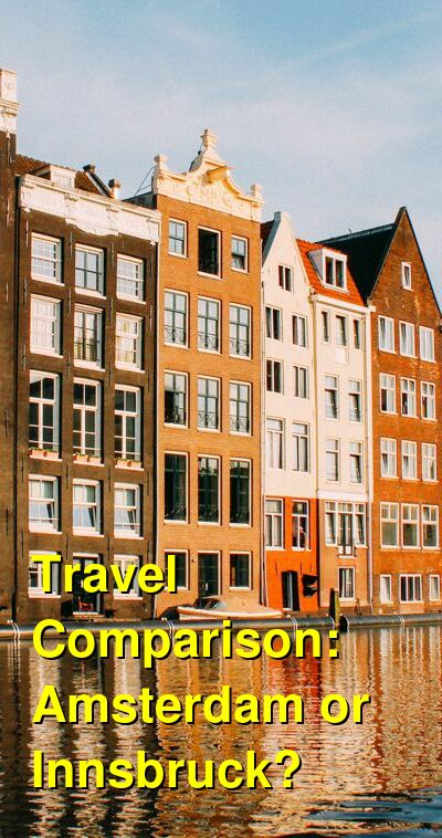 Amsterdam vs. Innsbruck Travel Comparison