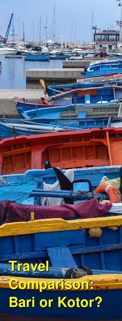 Bari vs. Kotor Travel Comparison