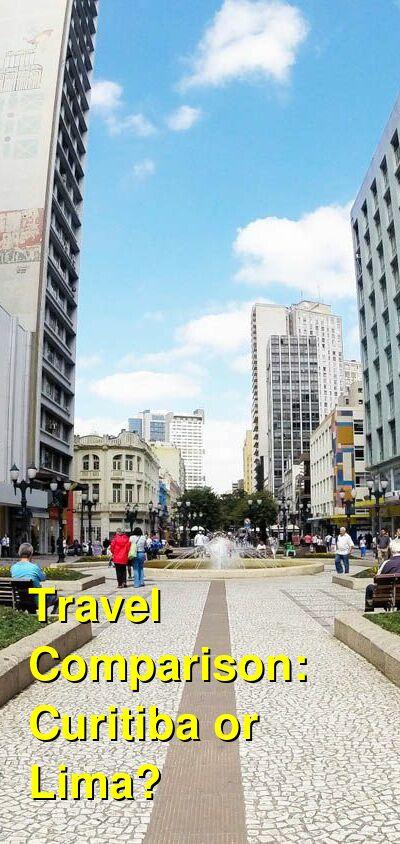 Curitiba vs. Lima Travel Comparison