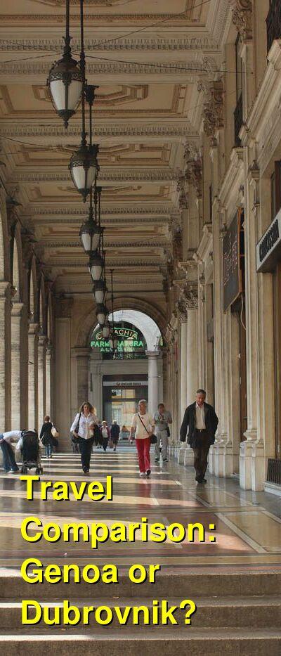 Genoa vs. Dubrovnik Travel Comparison