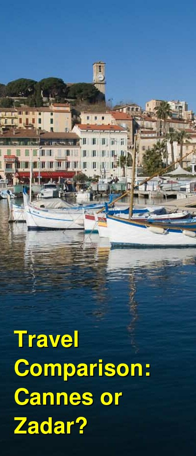 Cannes vs. Zadar Travel Comparison