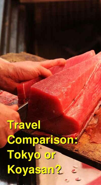 Tokyo vs. Koyasan Travel Comparison