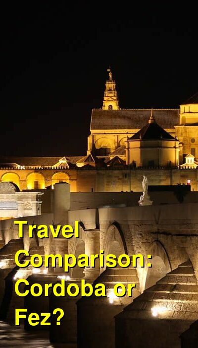 Cordoba vs. Fez Travel Comparison