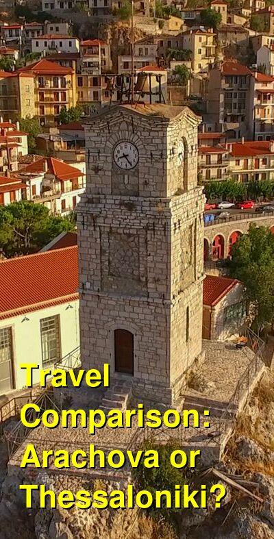 Arachova vs. Thessaloniki Travel Comparison
