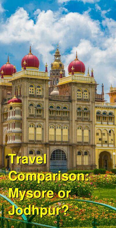 Mysore vs. Jodhpur Travel Comparison