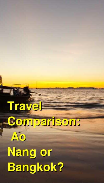 Ao Nang vs. Bangkok Travel Comparison