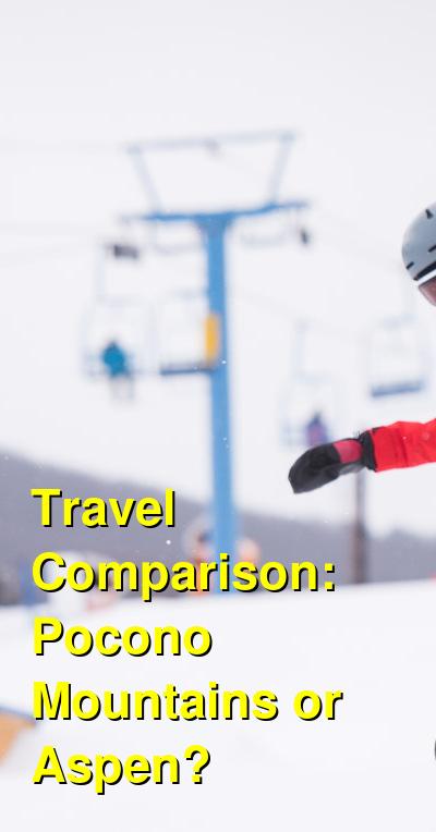 Pocono Mountains vs. Aspen Travel Comparison