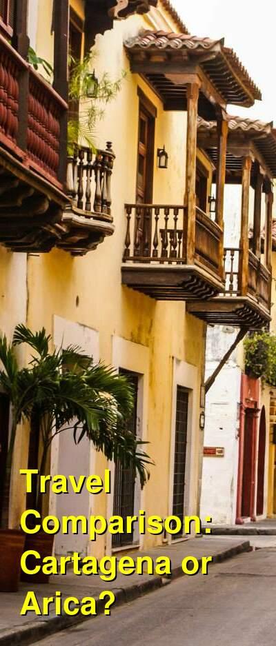 Cartagena vs. Arica Travel Comparison