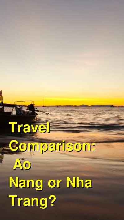 Ao Nang vs. Nha Trang Travel Comparison