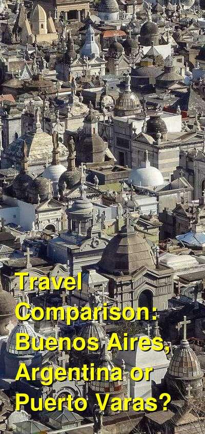 Buenos Aires, Argentina vs. Puerto Varas Travel Comparison