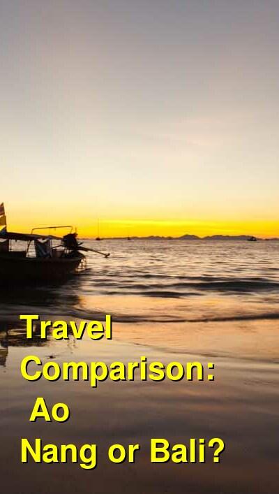 Ao Nang vs. Bali Travel Comparison