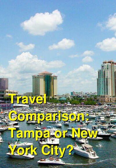 Tampa vs. New York City Travel Comparison