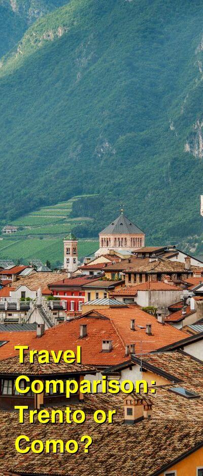 Trento vs. Como Travel Comparison