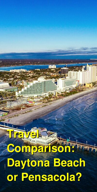 Daytona Beach vs. Pensacola Travel Comparison