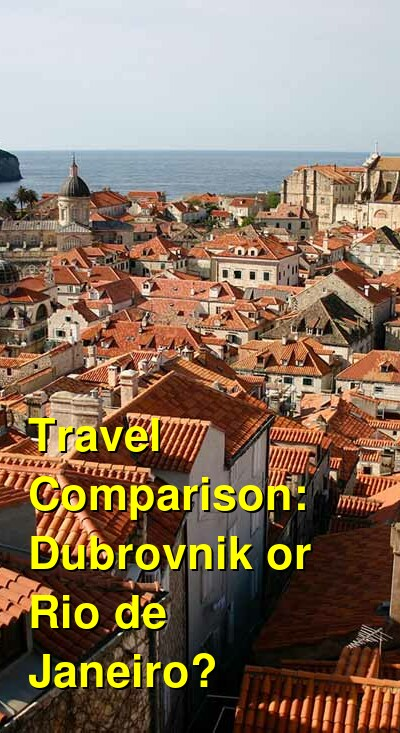 Dubrovnik vs. Rio de Janeiro Travel Comparison