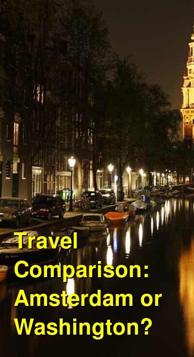 Amsterdam vs. Washington Travel Comparison