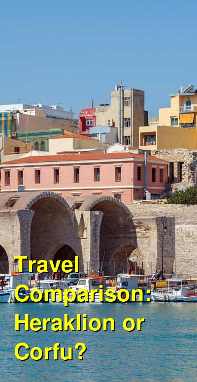 Heraklion vs. Corfu Travel Comparison