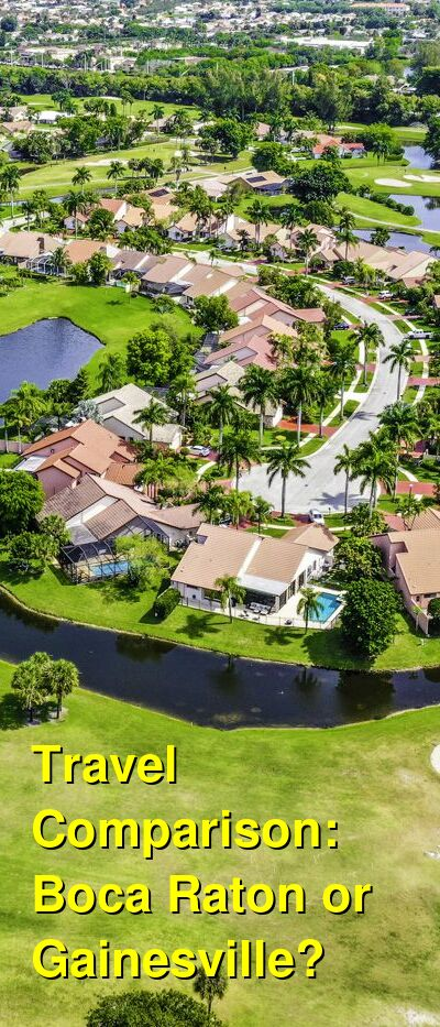 Boca Raton vs. Gainesville Travel Comparison