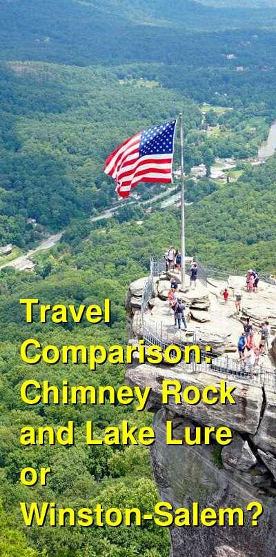 Chimney Rock and Lake Lure vs. Winston-Salem Travel Comparison