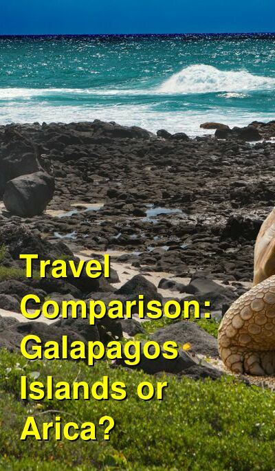 Galapagos Islands vs. Arica Travel Comparison
