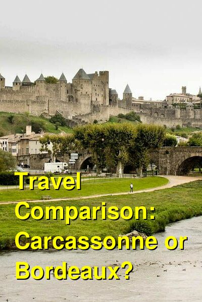 Carcassonne vs. Bordeaux Travel Comparison