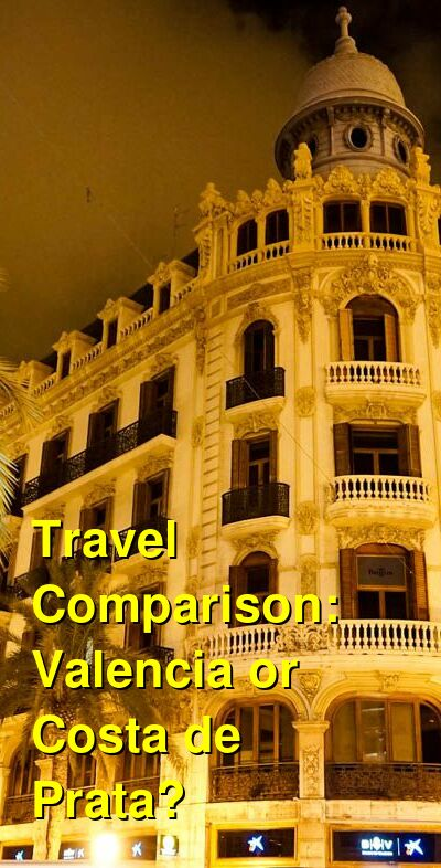 Valencia vs. Costa de Prata Travel Comparison