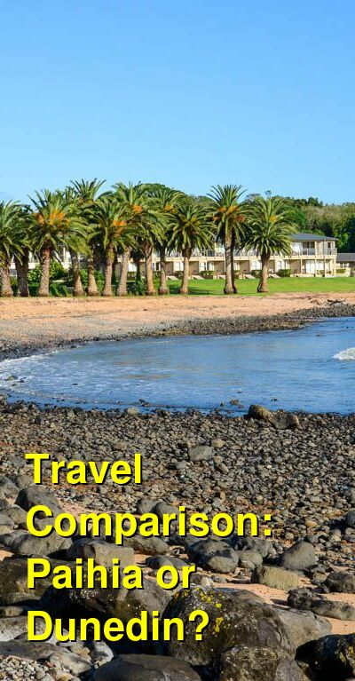 Paihia vs. Dunedin Travel Comparison