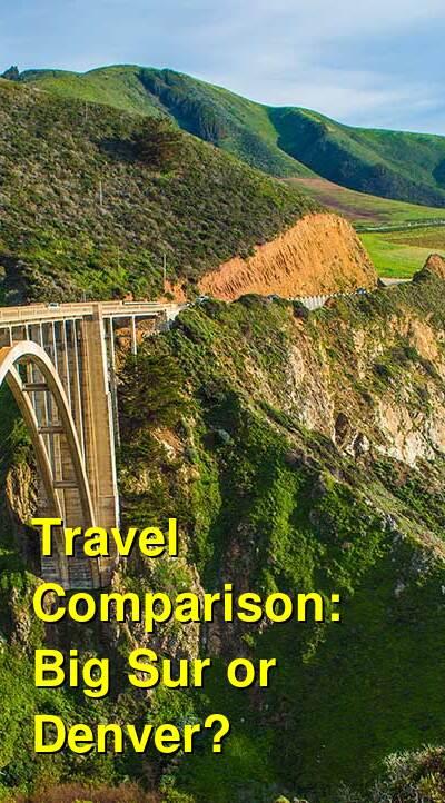Big Sur vs. Denver Travel Comparison