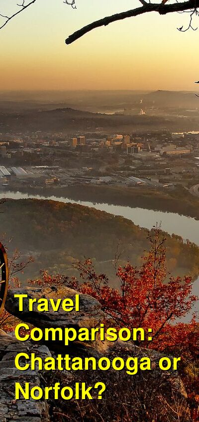 Chattanooga vs. Norfolk Travel Comparison