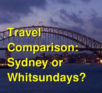 Sydney vs. Whitsundays Travel Comparison