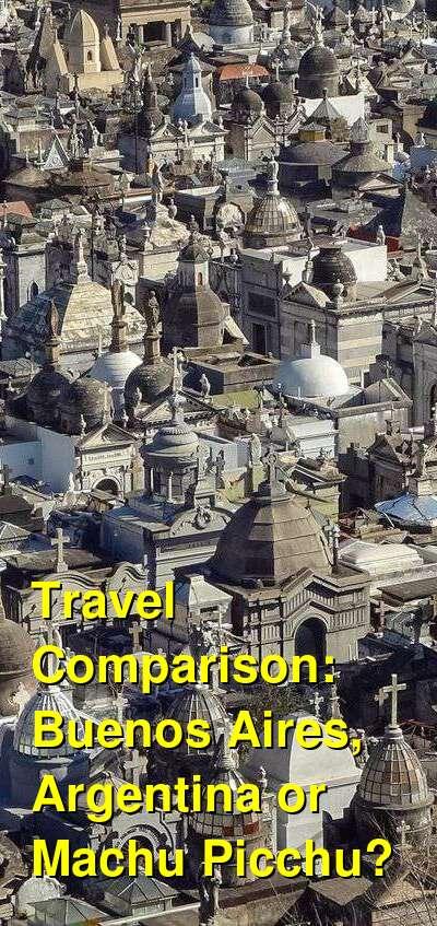 Buenos Aires, Argentina vs. Machu Picchu Travel Comparison