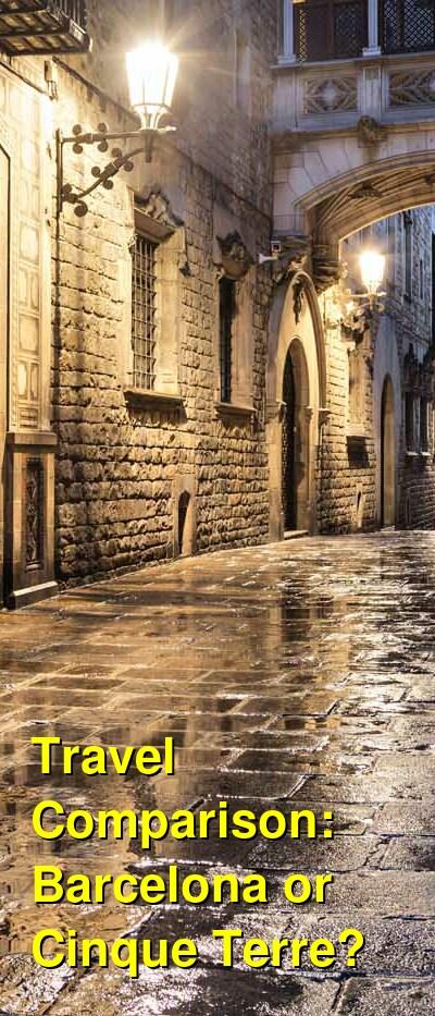 Barcelona vs. Cinque Terre Travel Comparison