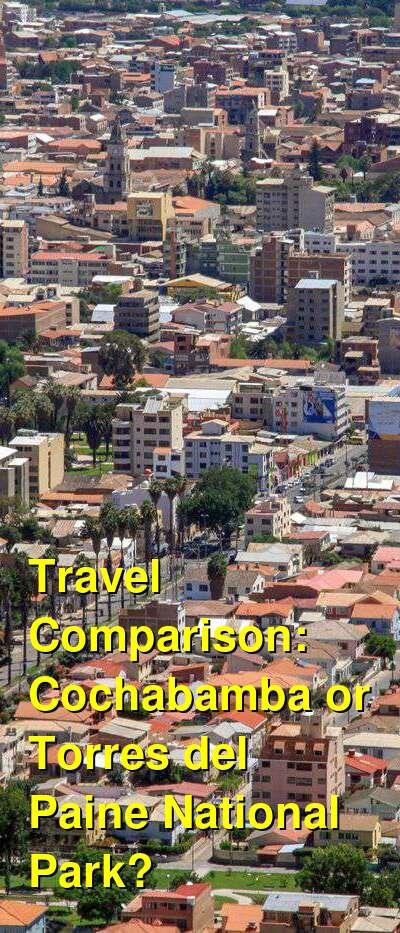 Cochabamba vs. Torres del Paine National Park Travel Comparison