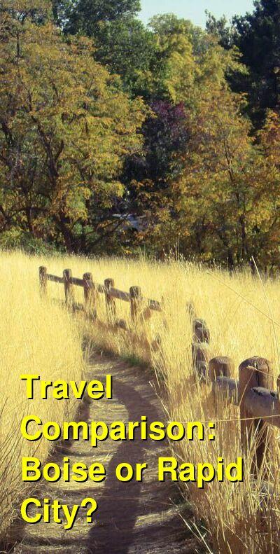 Boise vs. Rapid City Travel Comparison