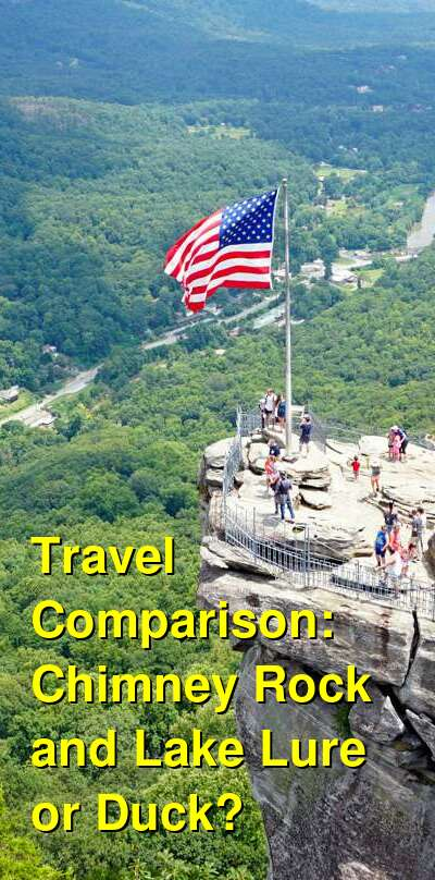 Chimney Rock and Lake Lure vs. Duck Travel Comparison