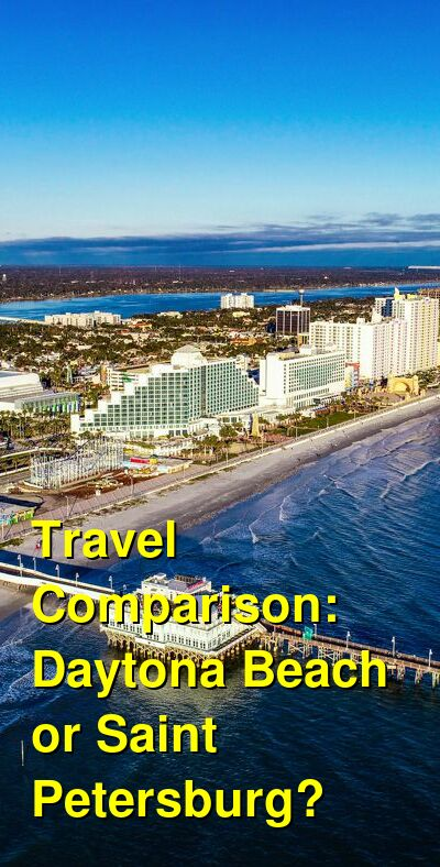 Daytona Beach vs. Saint Petersburg Travel Comparison