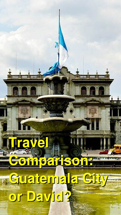 Guatemala City vs. David Travel Comparison