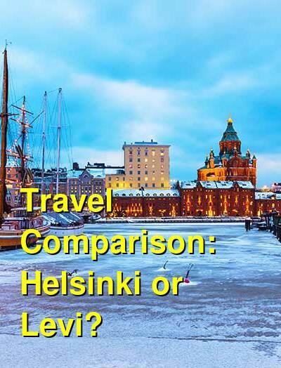 Helsinki vs. Levi Travel Comparison