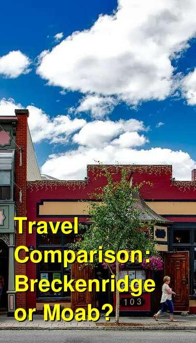Breckenridge vs. Moab Travel Comparison