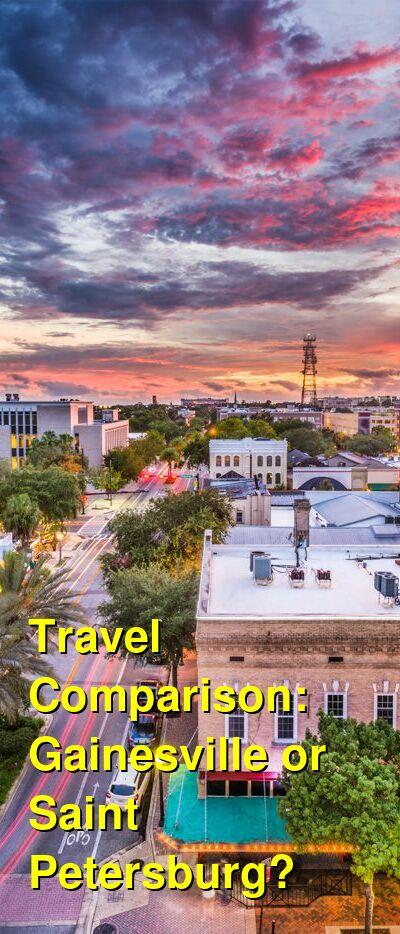 Gainesville vs. Saint Petersburg Travel Comparison
