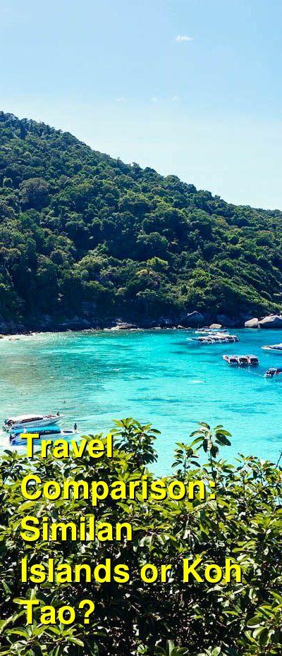 Similan Islands vs. Koh Tao Travel Comparison