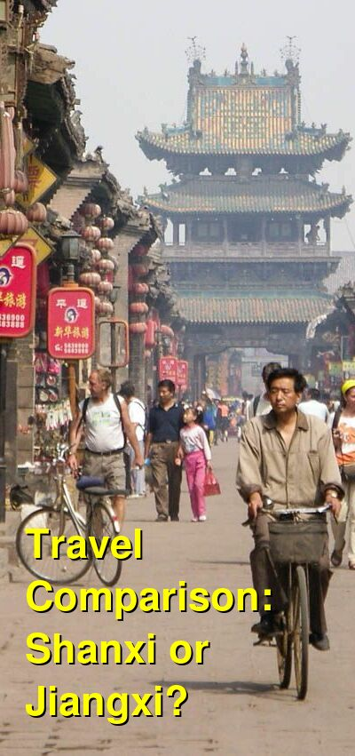 Shanxi vs. Jiangxi Travel Comparison