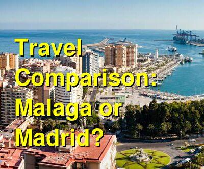 Malaga vs. Madrid Travel Comparison