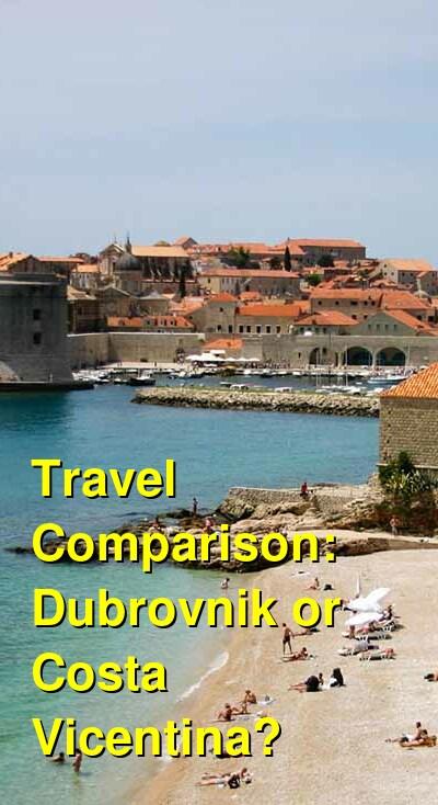 Dubrovnik vs. Costa Vicentina Travel Comparison
