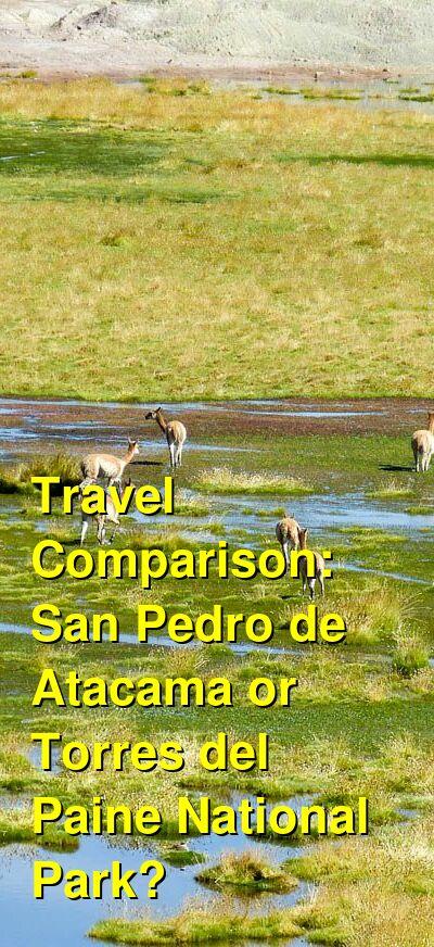 San Pedro de Atacama vs. Torres del Paine National Park Travel Comparison