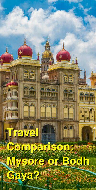 Mysore vs. Bodh Gaya Travel Comparison