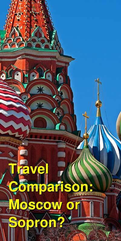 Moscow vs. Sopron Travel Comparison
