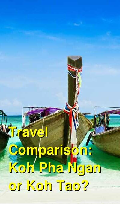 Koh Pha Ngan vs. Koh Tao Travel Comparison