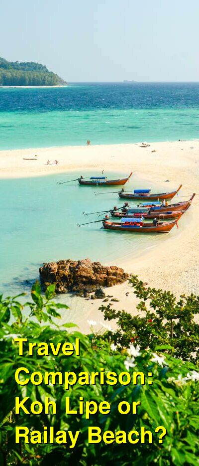 Koh Lipe vs. Railay Beach Travel Comparison