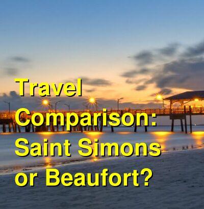 Saint Simons vs. Beaufort Travel Comparison